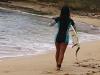 サーフィン女子