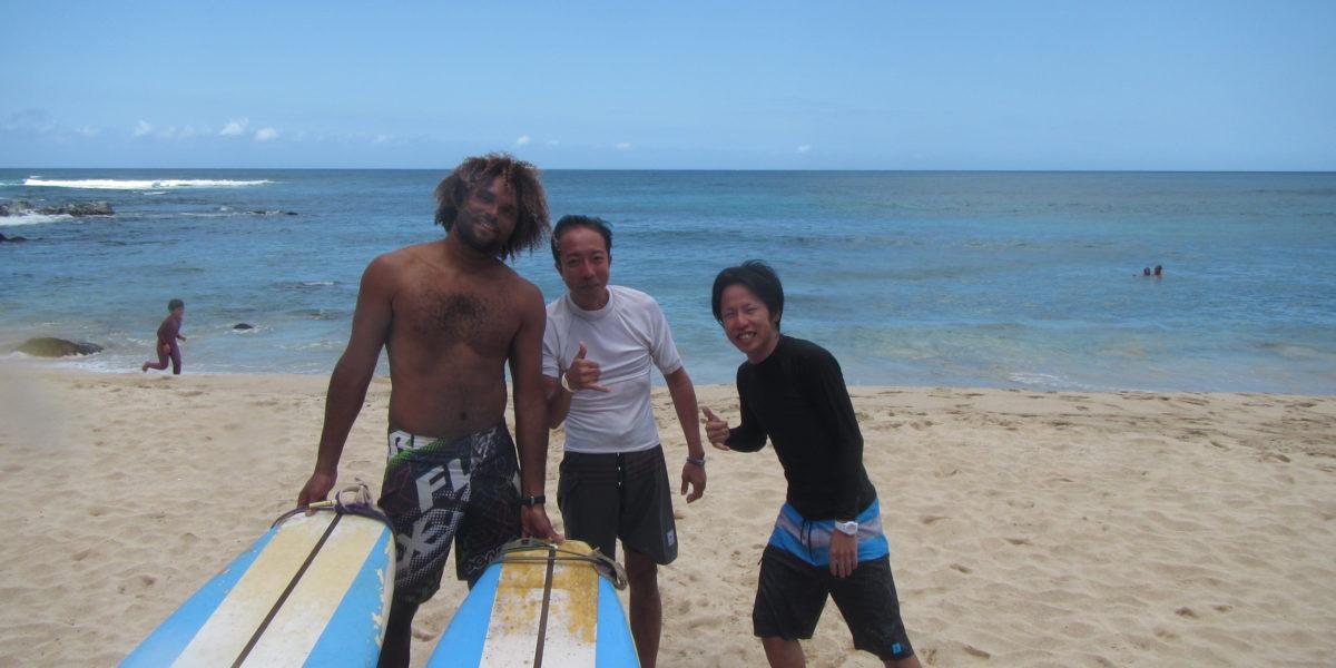 ハワイ サーフィン ノースショア サーフィンレッスン ノースショアツアー 経験者